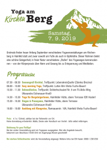 Yoga am Kirchenberg Hainfeld 7. September 2019 7:30